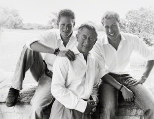 Prince Harry; Prince Charles; Prince William, Duke of Cambridge by Mario Testino 2004,Mario Testino