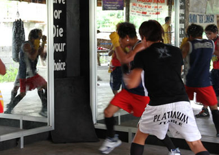 American Boxing Association boxing training camp in Philippines Shadow Boxing    ,Camilo Ontiveros