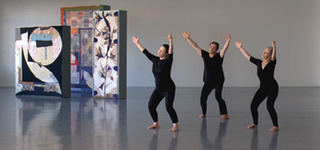 Production still from Five Dances and Nine Wall Carpets by Noa Eshkol,Sharon Lockhart