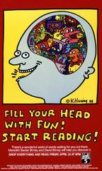 Fill Your Head with Fun! Start Reading!,Keith Haring