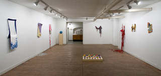 Installation shot of Cast at Janet Kurnatowski, Kris Scheifele