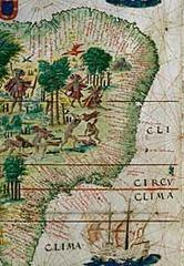 planche du Brésil, portulan, Atlas Miller