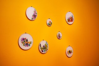 "Installation view of ""Smile"" series ,Natalia Ancisco"