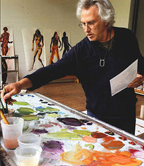 Eric Fischl in his Studio. Photo by Edgar Howard, Eric Fischl