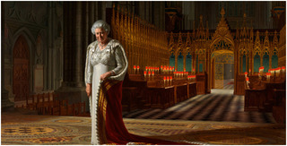 The Coronation Theatre, Westminster Abbey: A Portrait of Her Majesty Queen Elizabeth II, 2012 (detail) ,RALPH HEIMANS