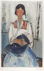 Modigliani, L\'Italienne (Modigliani, The Italian Woman), Jacques Villon