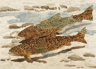 Study for Trout and Reflection, Neil Welliver
