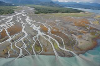 Girwingk Glacier River, Kachemak Bay, Cook Inlet,