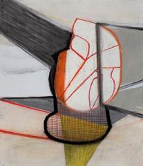 A Shape that Stands Up ad Listens #1, Amy Sillman