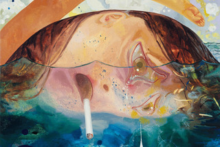Swimming, Smoking, Crying,Dana Schutz