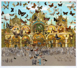 The Butterfly Man - Venice (in homage to Damien Hirst)	 , Peter Blake