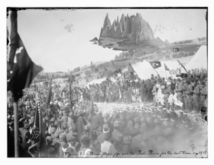 Ottoman flags fly over the Nabi Musa for the last time, in 1917, Mehreen Murtaza