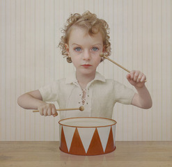 The drummer ,Loretta Lux
