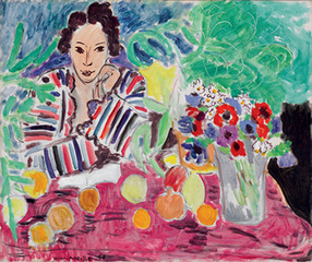 Striped Robe, Fruit, and Anemones,Henri Matisse