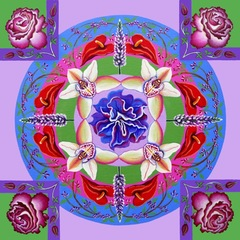 Floral Mandala, Barbara Rockhold