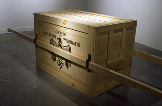Nazi Crate: replica prop with white fedora (from Raiders of the Lost Ark), Nick De Pirro
