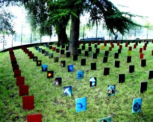 A Cemetery of Books,  La Villa Arson, Nice, France ,IAIN BAXTER&amp;