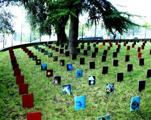 A Cemetery of Books,  La Villa Arson, Nice, France , IAIN BAXTER&