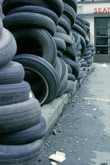 Tires, North Vancouver, British Columbia , IAIN BAXTER&