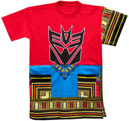 P.L.D.- We Wear the Mask: Dashiki Couture Tops, Derrick Adams