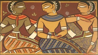 Untitled (THREE FIGURES),Jamini Roy