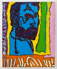 Blue Angelo with Orange Predella, Wayne Koestenbaum