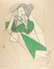 Femme étendue lisant, Pablo Picasso