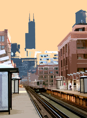 Chicago Avenue L Stop,Kevin Swallow