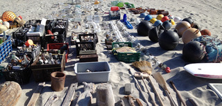 Objects collected for Sandstars on Isla Arena, Baja California Sur, Mexico, Gabriel Orozco