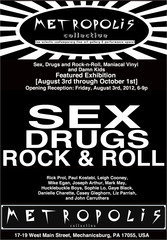 Sex, Drugs and Rock\'n\'Roll Exhibition at Trash Art Gallery @ Metropolis Collective,Rick Prol, PAUL KOSTABI, Danielle Charette, Joseph Arthur, Mike Egan, Leigh Cooney, John Carruthers, Gaye Black, Sophie Lo, Liz Parrish, Luke Yocum, Casey Gleghorn, Mark May