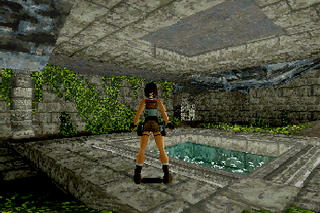 Tomb Raider, SEGA Saturn,JEREMY H. SMITH, executive producer, TOBY GARD, HEATHER GIBSON, NEAL BOYD, graphic artists, JASON GOSLING, PAUL DOUGLAS, GAVIN RUMMERY, programmers