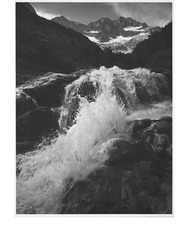 Waterfall, Northern Cascades, Washington,Ansel Adams