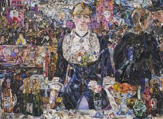 A Bar at the Folies-Bergère, after Edouard Manet, Vik Muniz