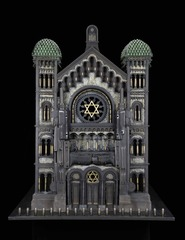 Synagogue, after the Great Synagogue of Brussels, Al Farrow