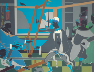 The Return of Odysseus (Homage to Pintoricchio and Benin),Romare Bearden