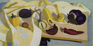 A Lot of Squash and Eggplants, One Huge , Lynn Kotula