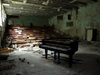 Music Classroom, Chernobyl, Diana Thater