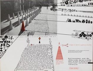 Cones, Street-Action, Berlin, Constantin Xenakis