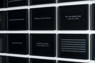 Text Piece (video stills), Clifford Owens