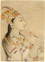 Idealized Portrait of the Mughal Empress Nur Jahan  (1577-1645),