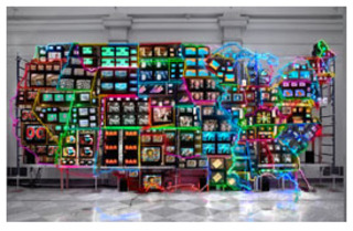 Electronic Superhighway: Continental U.S., Alaska, Hawaii,Nam June Paik