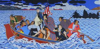 Shimomura Crossing the Delaware , Roger Shimomura