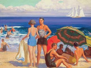 Beach Scene,