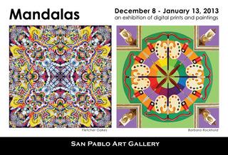 Mandalas: Fletcher Oakes (left),Barbara Rockhold (right),