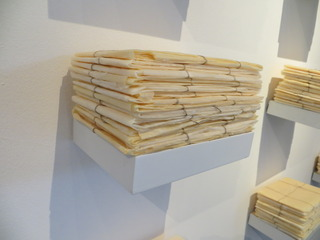 Folded tied, Knotted and Stacked - The Package Project, Patricia Schnall Gutierrez