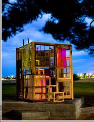 """Bakersfield Lighthouse""  twilight, night, and day, Lori Nozick"