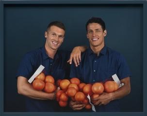 Two Men, Grapefruits, Elad Lassry