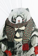Bear with Scarf,Julia Pott