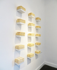 Folded tied, Knotted and Stacked - The Package Project , Patricia Schnall Gutierrez