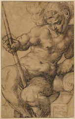 Nude Warrior Leaning on a Volute, Toussaint Dubreuil